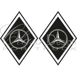 Stickers Losange Mercedes