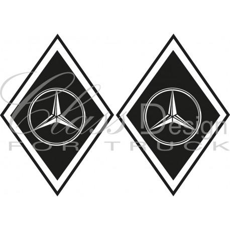 Stickers Losange Mercedes