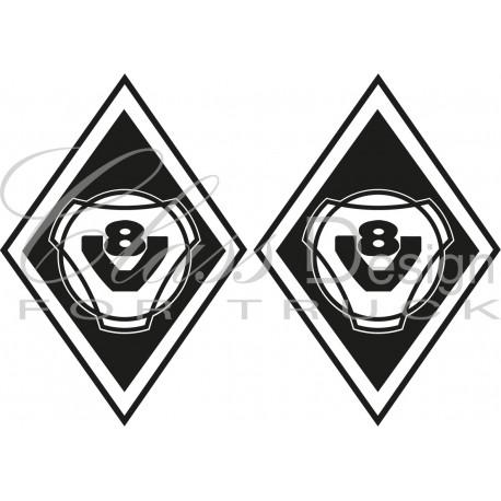 Stickers Losange V8