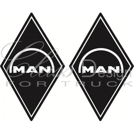 Stickers Losange Man