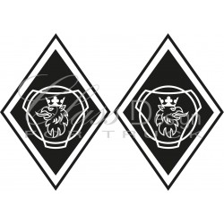 Stickers Losange Griffon Scania