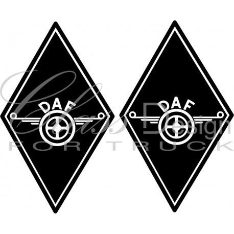 Stickers Losange DAF