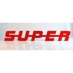 Emblème de calandre Super Rouge