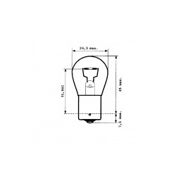 Ampoule P21W 24V