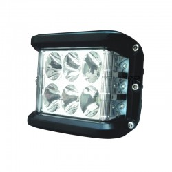 Phare de travail rectangulaire 6 Leds type CREE + 6 Leds 180°