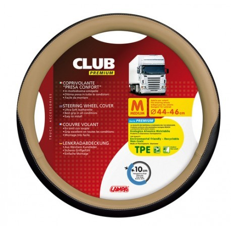 COUVRE VOLANT CLUB 44/46 BEIGE