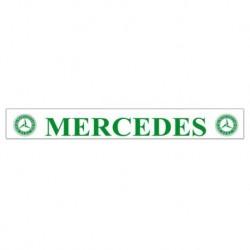 Bavette blanche 240 X 35 cm Mercedes vert