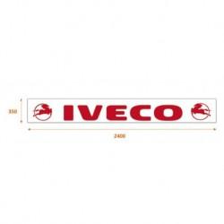 Bavette blanche 240 X 35 cm Iveco rouge