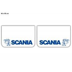 Paire de bavettes SCANIA Blanche/Bleu
