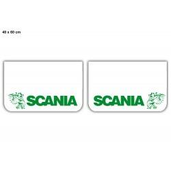 Paire de bavettes SCANIA Blanche/Verte