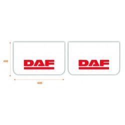 Paire de bavettes DAF Blanche/Rouge