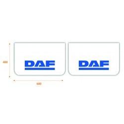 Paire de Bavettes DAF Blanche/Bleu