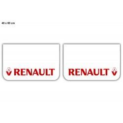 Paire de bavettes RENAULT Blanc/Rouge