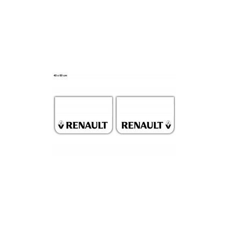 Paire de bavettes RENAULT Blanche/Noir