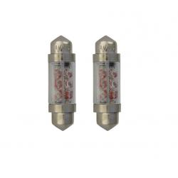 Lot de navettes 36mm éclairage blanc 24V