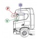 TRM-6 SUPPORT ANTENNE DAF/SCANIA/RENAULT