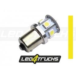 AMPOULE JAUNE - 9XSMD LED 10-30V - BA15S