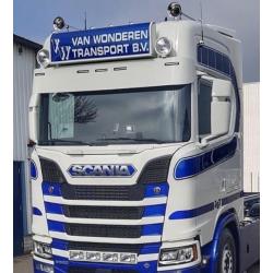 Visière en Inox pour Scania NG 34cm